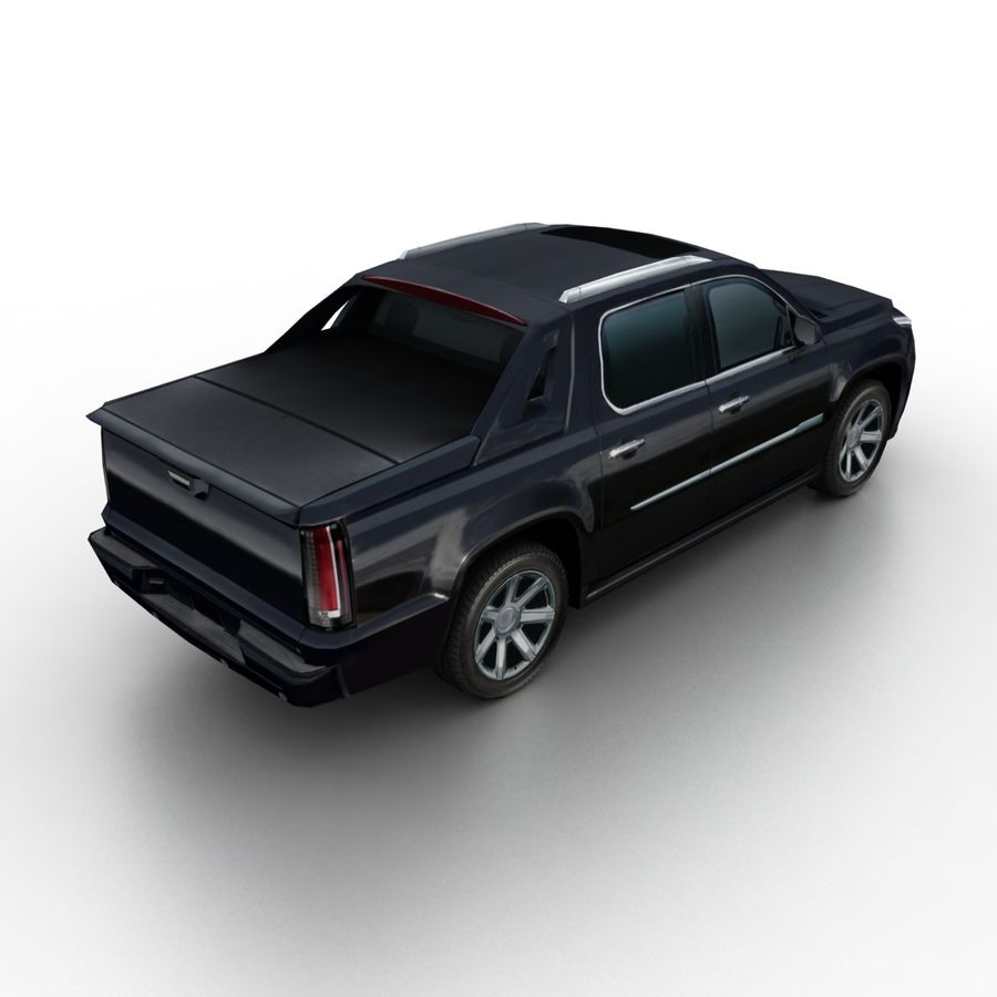 Low Poly Generic Pickup v03 royalty-free 3d model - Preview no. 2