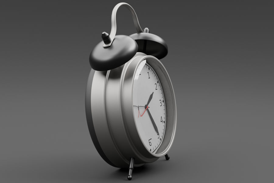 Alarm clock royalty-free 3d model - Preview no. 9