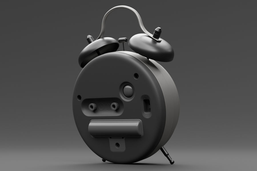 Alarm clock royalty-free 3d model - Preview no. 15