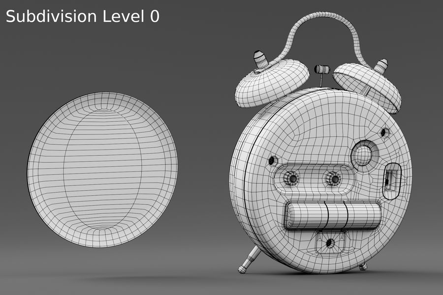 Alarm clock royalty-free 3d model - Preview no. 20