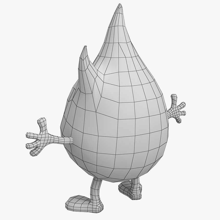 Cartoon Fire royalty-free 3d model - Preview no. 9