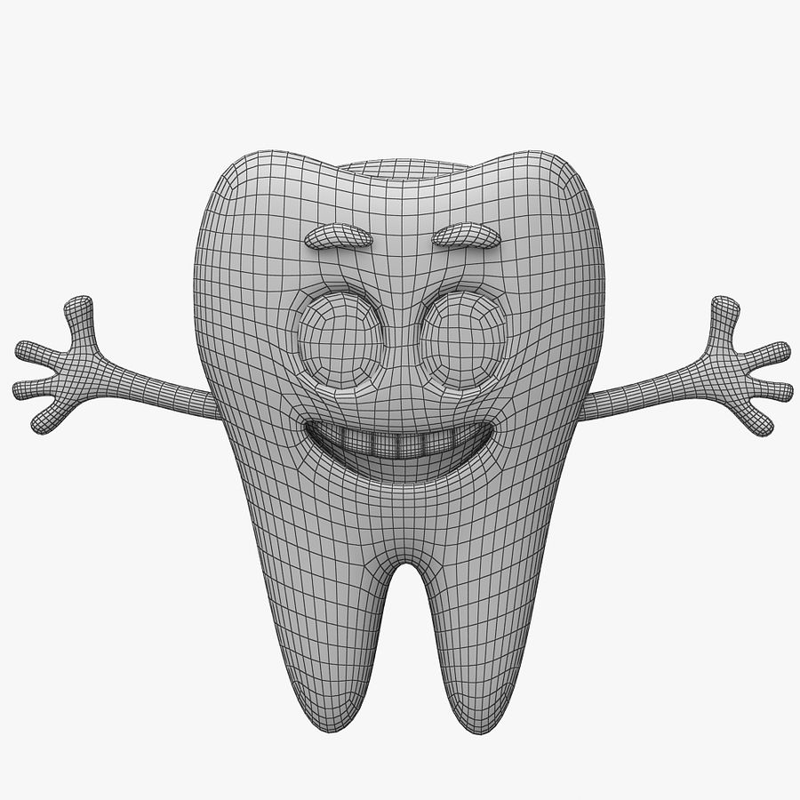 Cartoon Tooth royalty-free 3d model - Preview no. 11