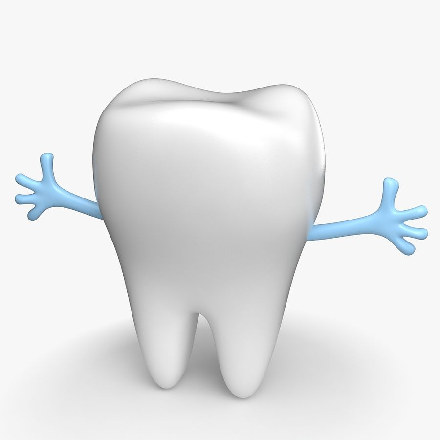 Cartoon Tooth royalty-free 3d model - Preview no. 5