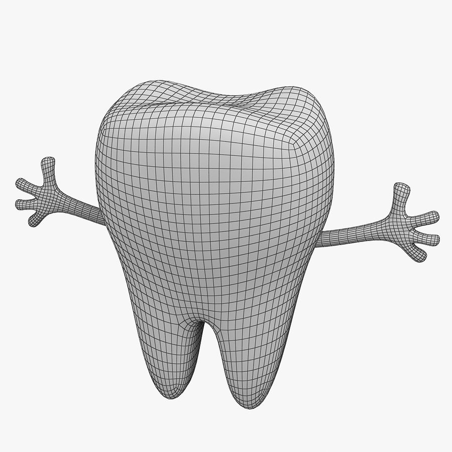Cartoon Tooth royalty-free 3d model - Preview no. 12
