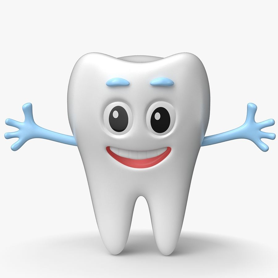 Cartoon Tooth royalty-free 3d model - Preview no. 1