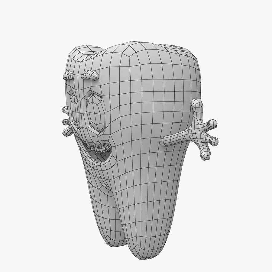 Cartoon Tooth royalty-free 3d model - Preview no. 10