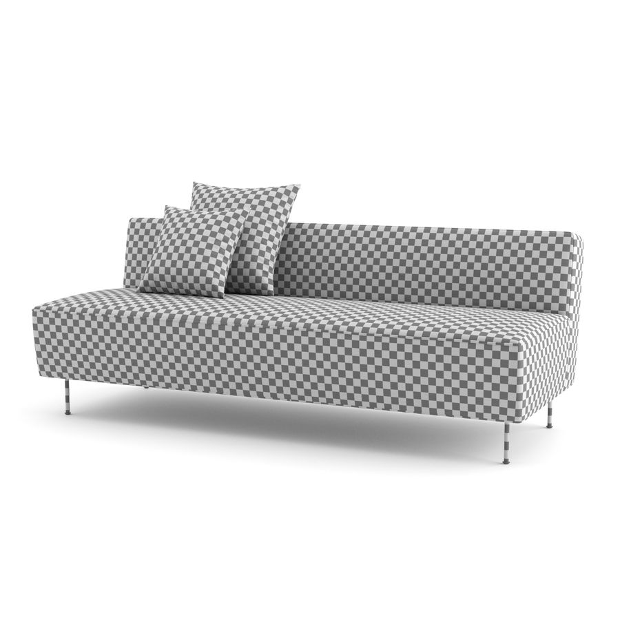 Modern Line Sofa by GUBI royalty-free 3d model - Preview no. 7