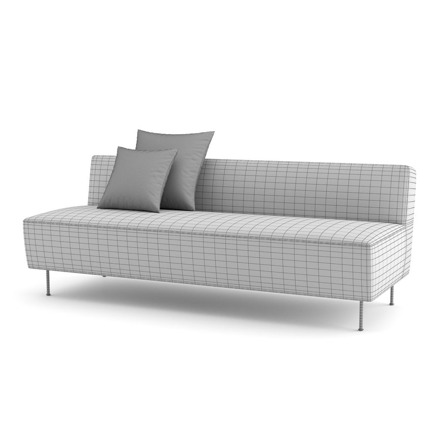 Modern Line Sofa by GUBI royalty-free 3d model - Preview no. 8