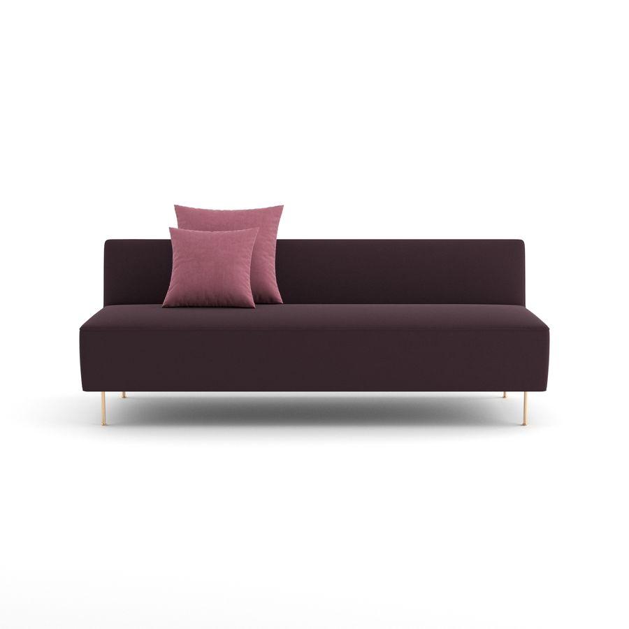 Sofa Modern Line firmy GUBI royalty-free 3d model - Preview no. 5