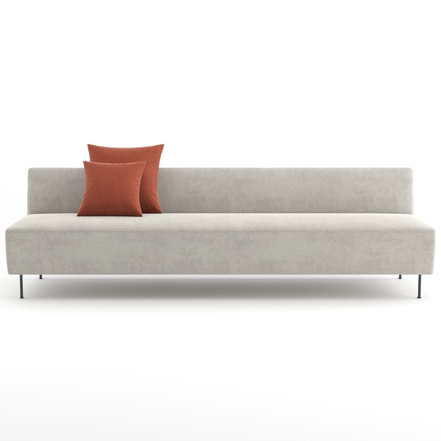 Modern Line Sofa by GUBI royalty-free 3d model - Preview no. 6