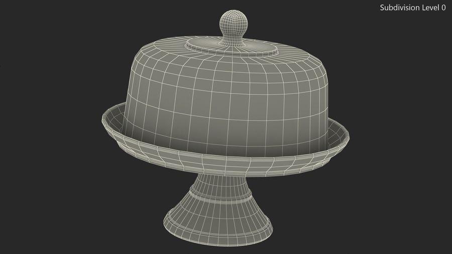 Stojak na ciasto szklany z kopułą royalty-free 3d model - Preview no. 11
