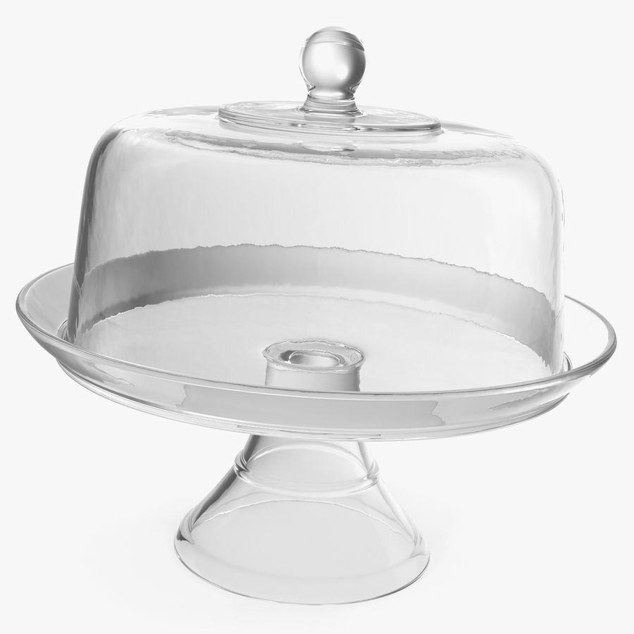 Stojak na ciasto szklany z kopułą royalty-free 3d model - Preview no. 1