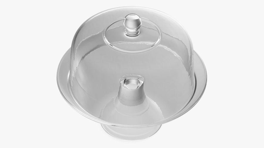 Stojak na ciasto szklany z kopułą royalty-free 3d model - Preview no. 7