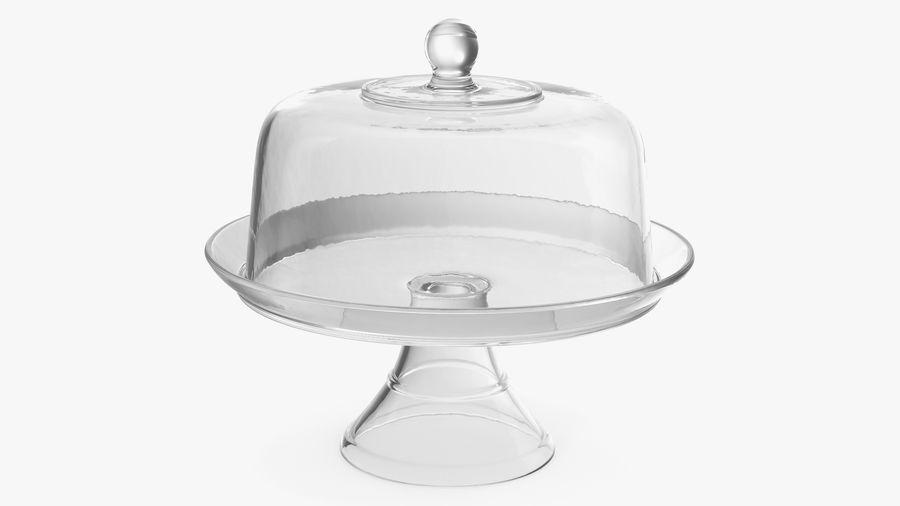 Stojak na ciasto szklany z kopułą royalty-free 3d model - Preview no. 6