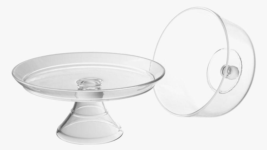 Stojak na ciasto szklany z kopułą royalty-free 3d model - Preview no. 10