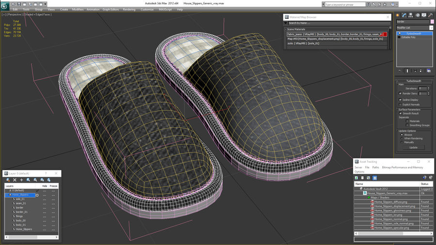 House Slippers Generic royalty-free 3d model - Preview no. 18