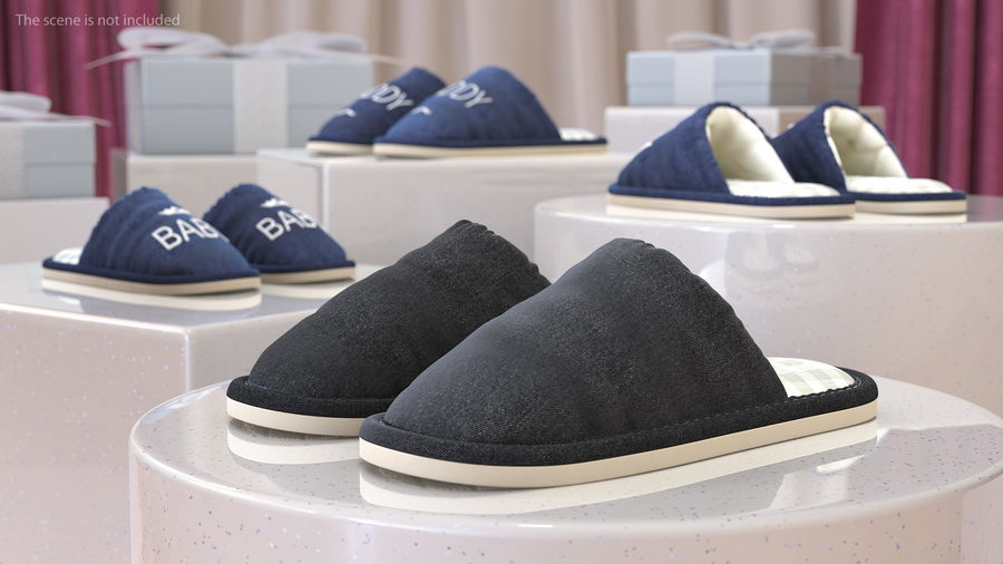 House Slippers Generic royalty-free 3d model - Preview no. 3