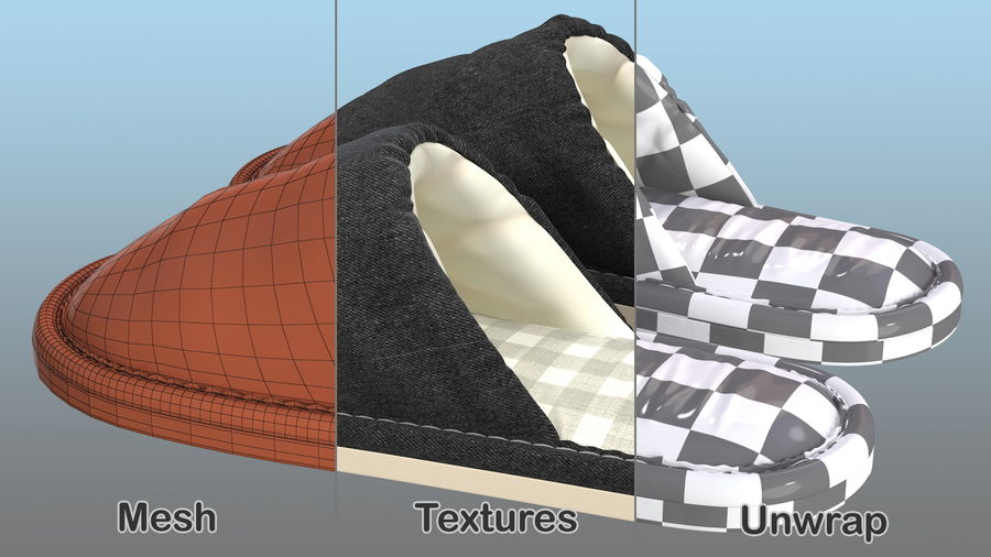 House Slippers Generic royalty-free 3d model - Preview no. 11