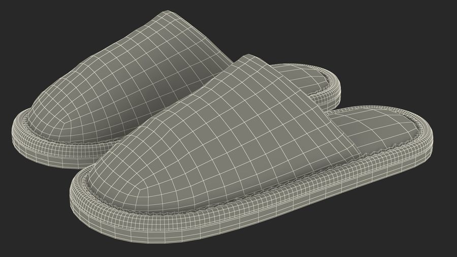 House Slippers Generic royalty-free 3d model - Preview no. 19