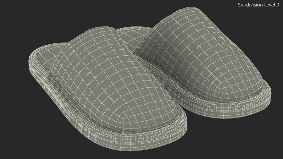 House Slippers Generic royalty-free 3d model - Preview no. 12