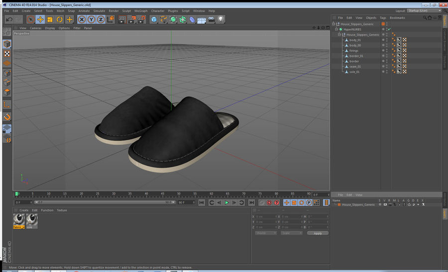 House Slippers Generic royalty-free 3d model - Preview no. 17