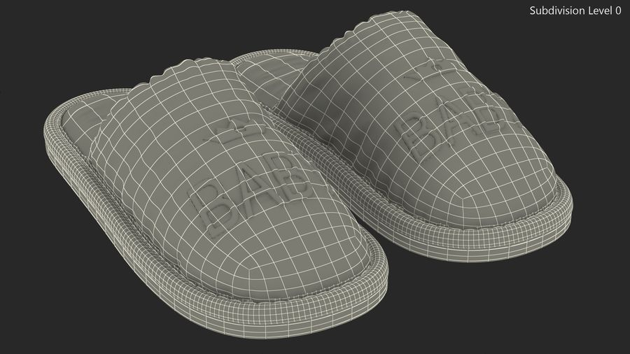 Kids Home Slippers royalty-free 3d model - Preview no. 15
