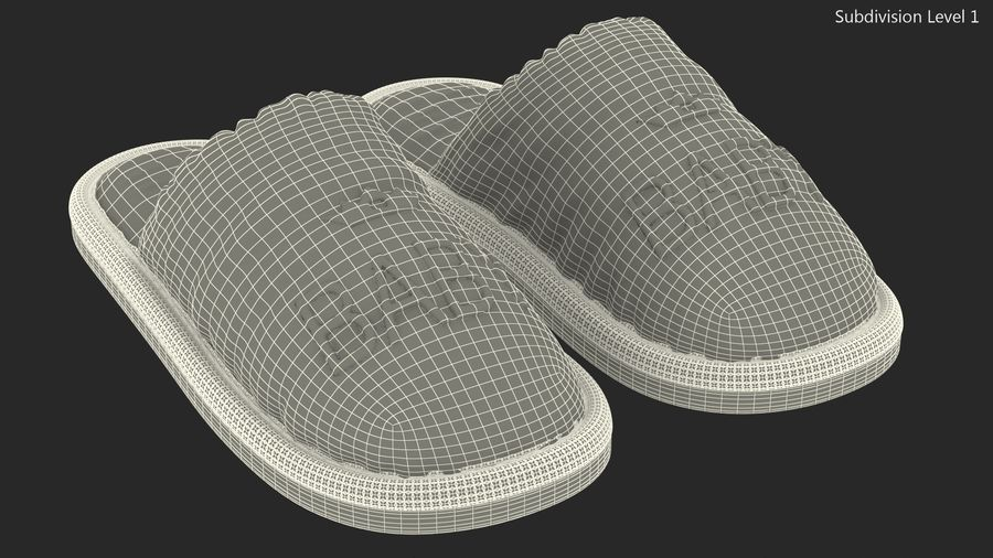 Kids Home Slippers royalty-free 3d model - Preview no. 16