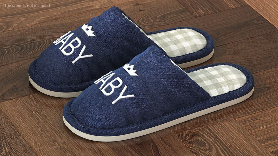 Kids Home Slippers royalty-free 3d model - Preview no. 2