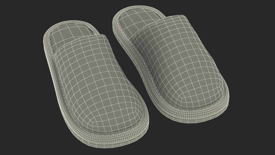 Kids Home Slippers royalty-free 3d model - Preview no. 22