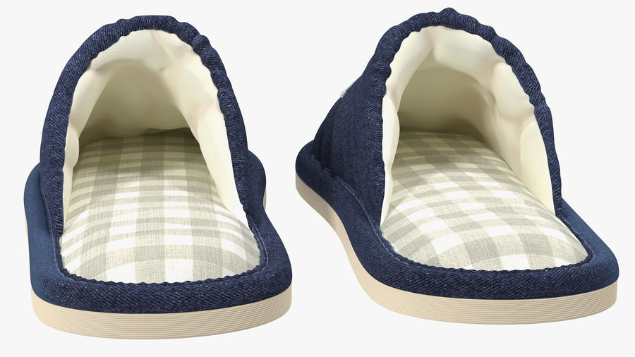 Kids Home Slippers royalty-free 3d model - Preview no. 9