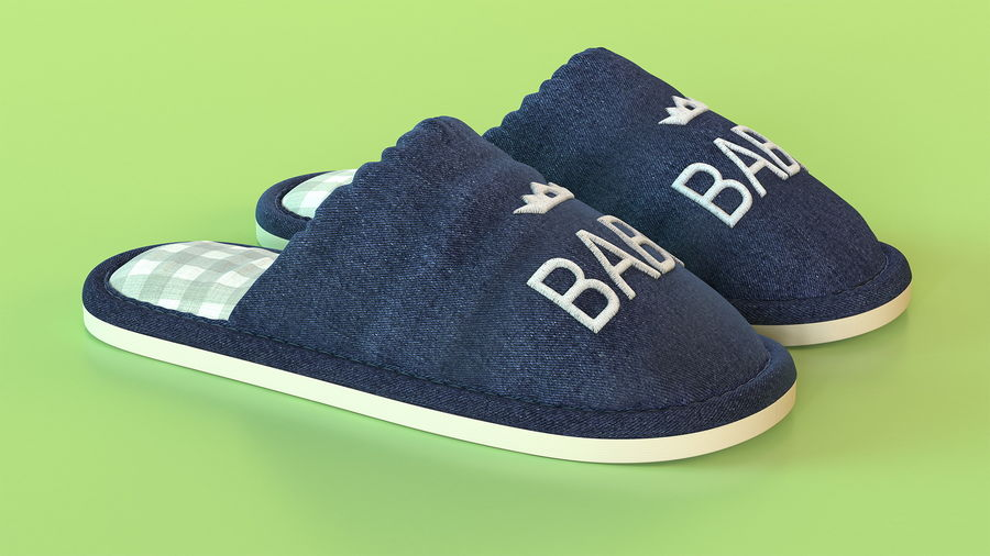 Kids Home Slippers royalty-free 3d model - Preview no. 6