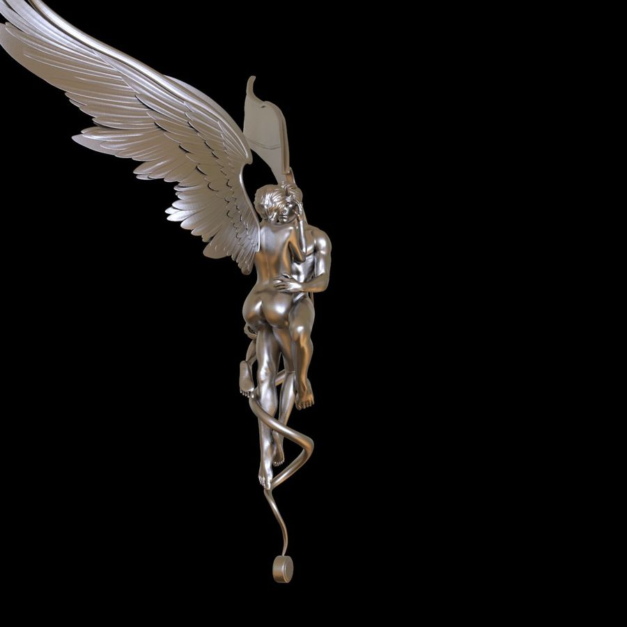 ANGEL AND DEVIL royalty-free 3d model - Preview no. 25