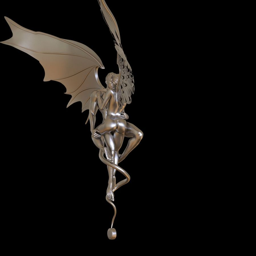 ANGEL AND DEVIL royalty-free 3d model - Preview no. 21