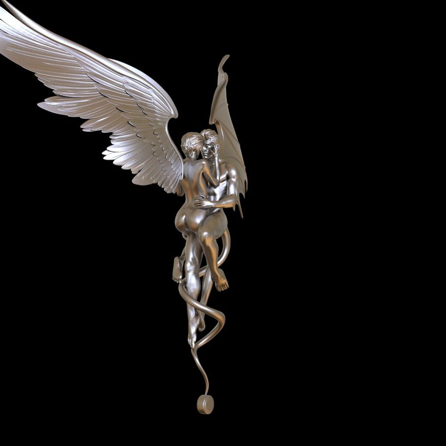 ANGEL AND DEVIL royalty-free 3d model - Preview no. 26