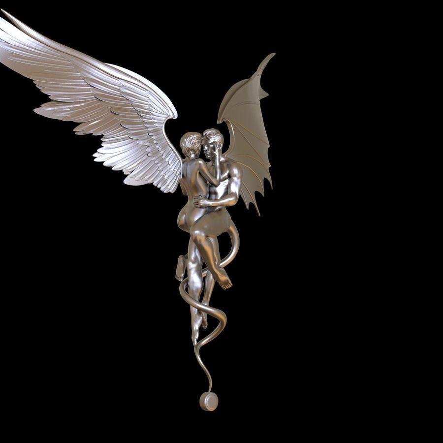 ANGEL E DIAVOLO royalty-free 3d model - Preview no. 27