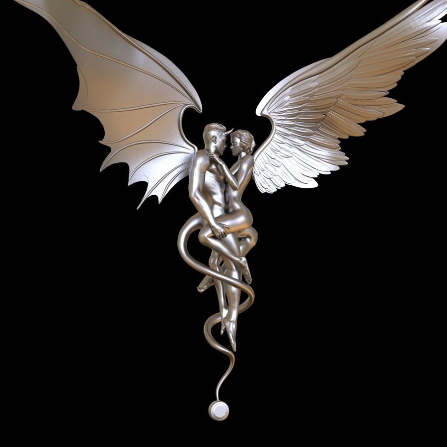 ANGEL AND DEVIL royalty-free 3d model - Preview no. 15