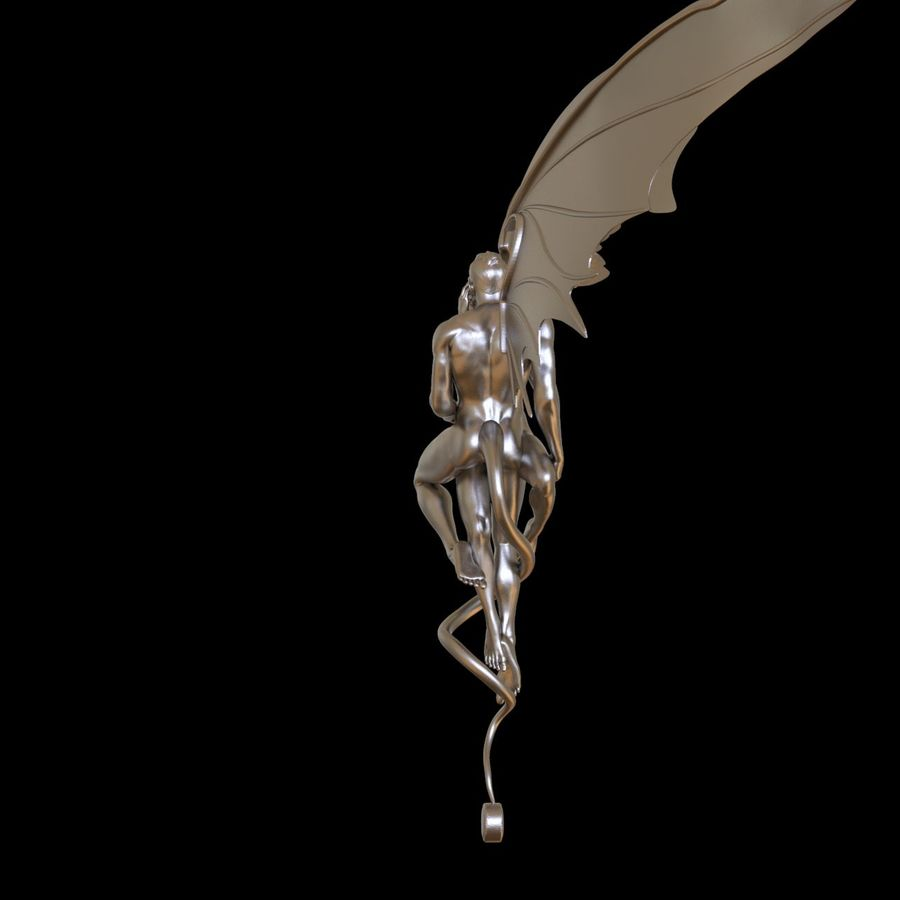 ANGEL AND DEVIL royalty-free 3d model - Preview no. 9