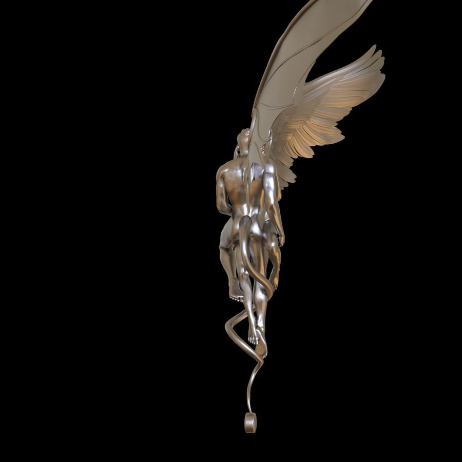 ANGEL E DIAVOLO royalty-free 3d model - Preview no. 10