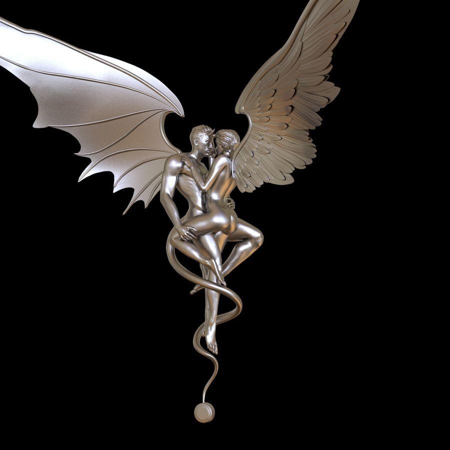 ANGEL E DIAVOLO royalty-free 3d model - Preview no. 18