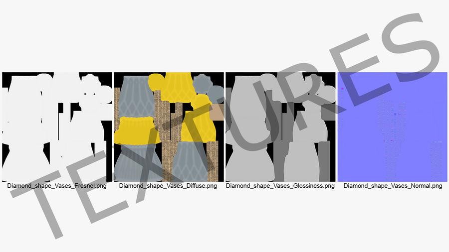 Modern Fashion Diamond shape Vase royalty-free 3d model - Preview no. 11