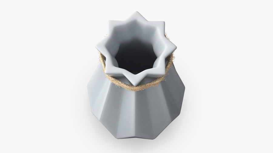 Modern Fashion Diamond shape Vase royalty-free 3d model - Preview no. 6