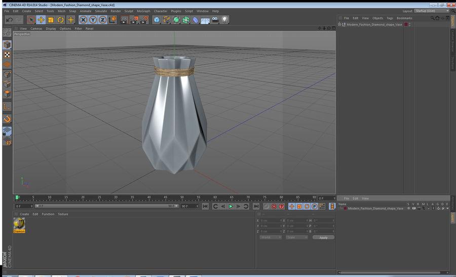 Modern Fashion Diamond shape Vase royalty-free 3d model - Preview no. 13