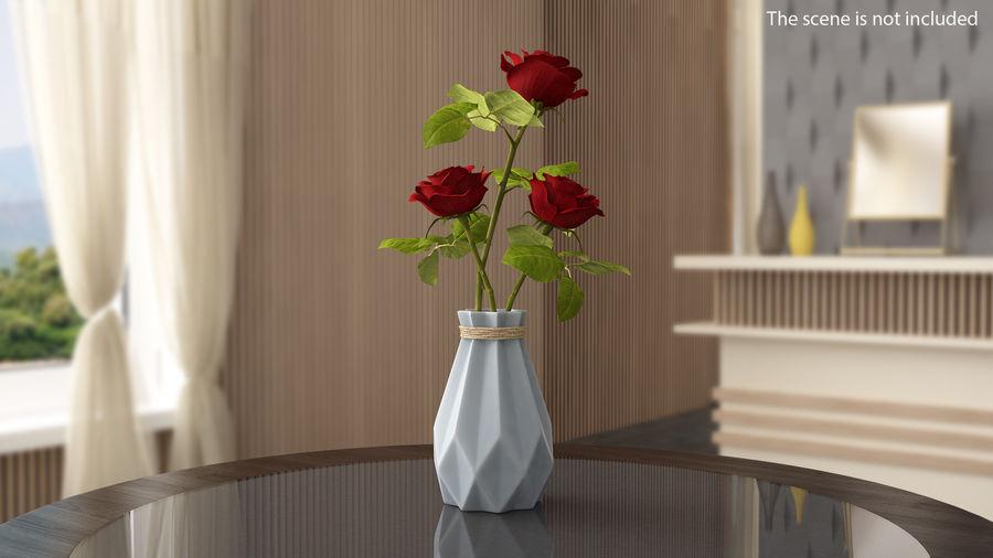 Modern Fashion Diamond shape Vase royalty-free 3d model - Preview no. 2