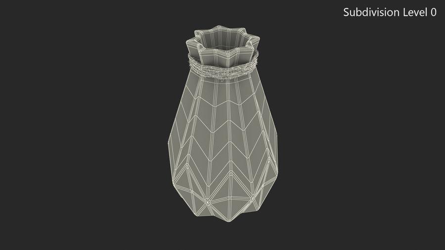 Modern Fashion Diamond shape Vase royalty-free 3d model - Preview no. 8