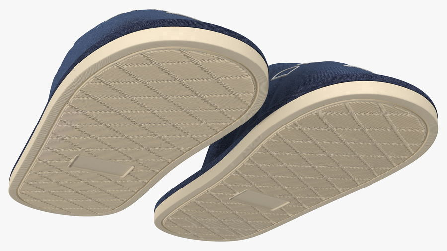 Mens Indoor House Slippers royalty-free 3d model - Preview no. 12