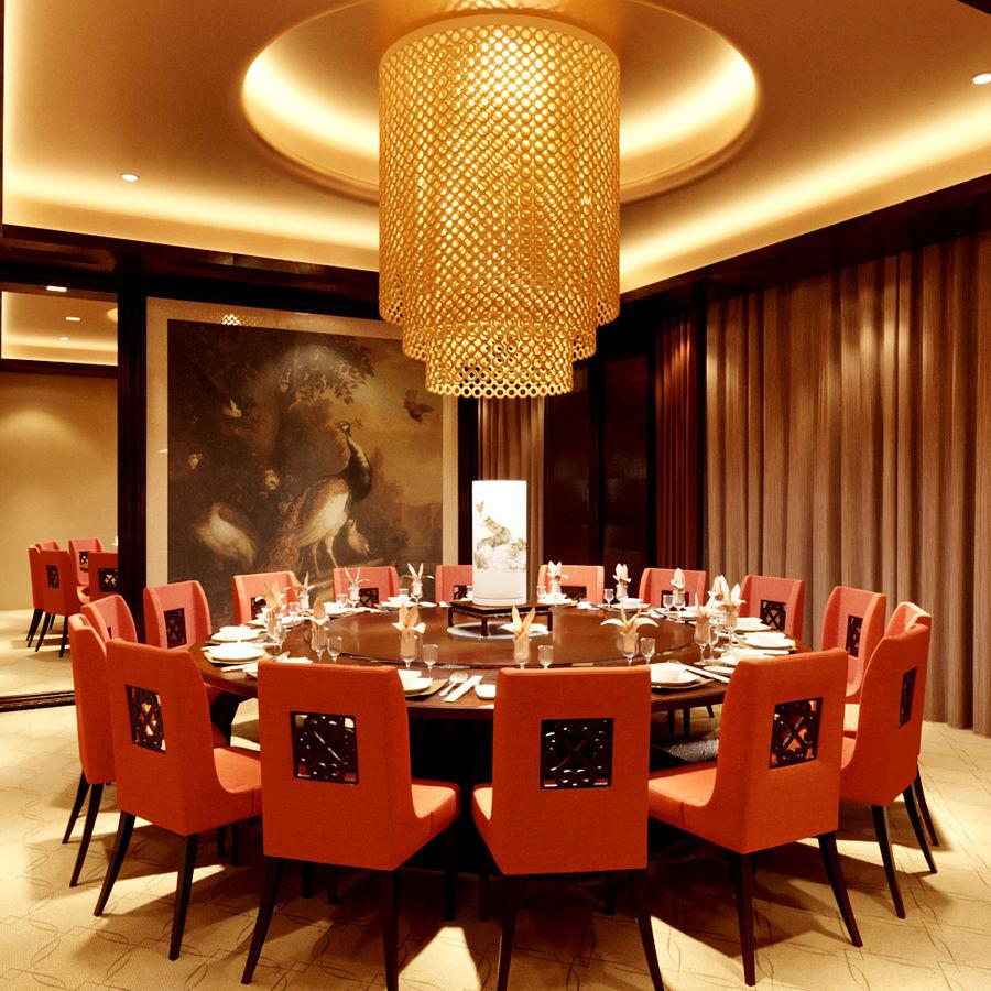 chińska restauracja royalty-free 3d model - Preview no. 1