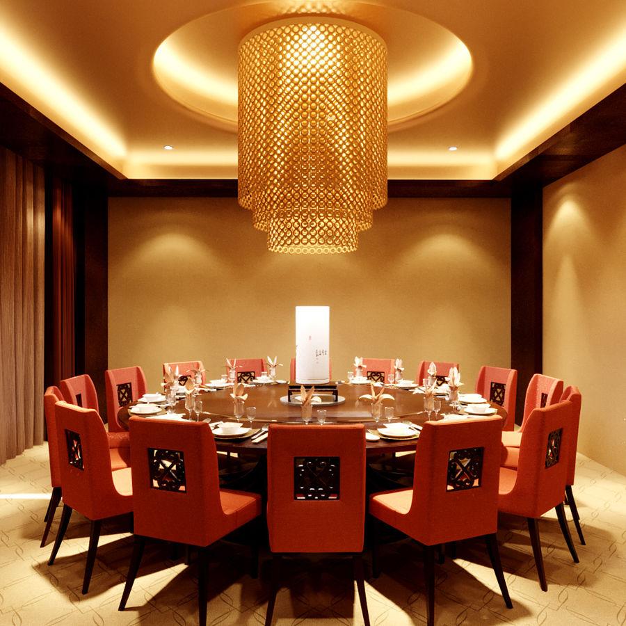 chińska restauracja royalty-free 3d model - Preview no. 2