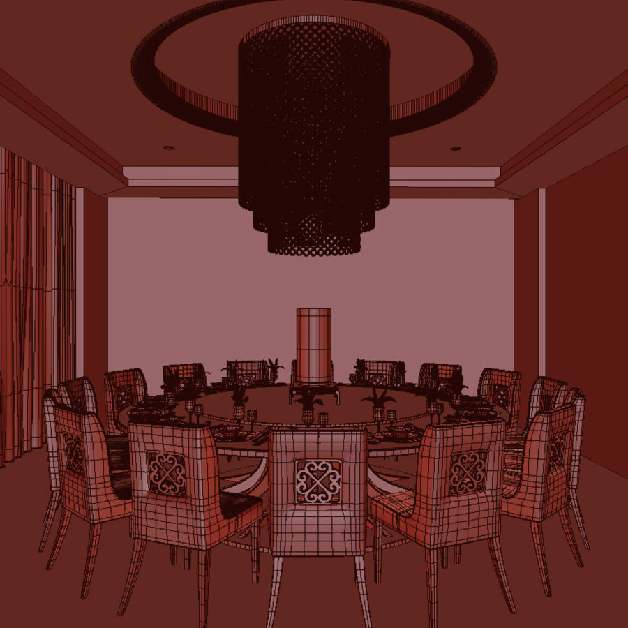 chińska restauracja royalty-free 3d model - Preview no. 5