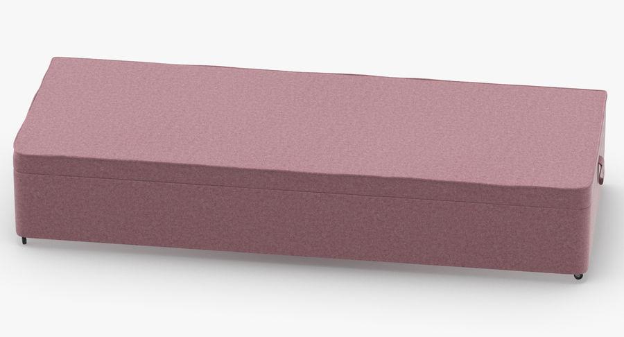 Bed Base 02 Blush royalty-free 3d model - Preview no. 5