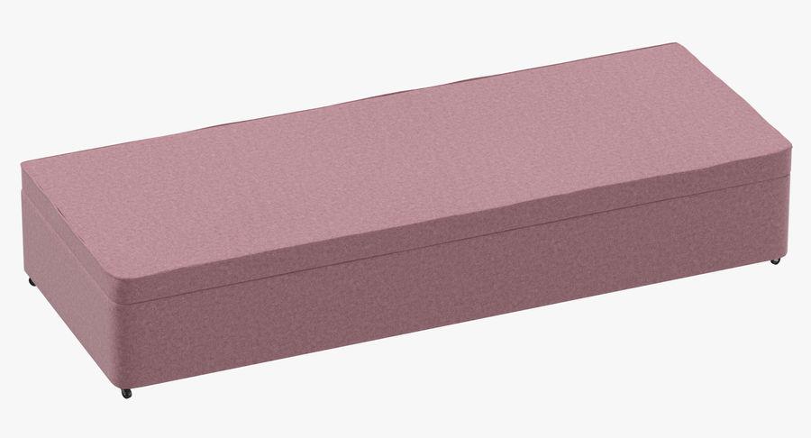 Bed Base 02 Blush royalty-free 3d model - Preview no. 2